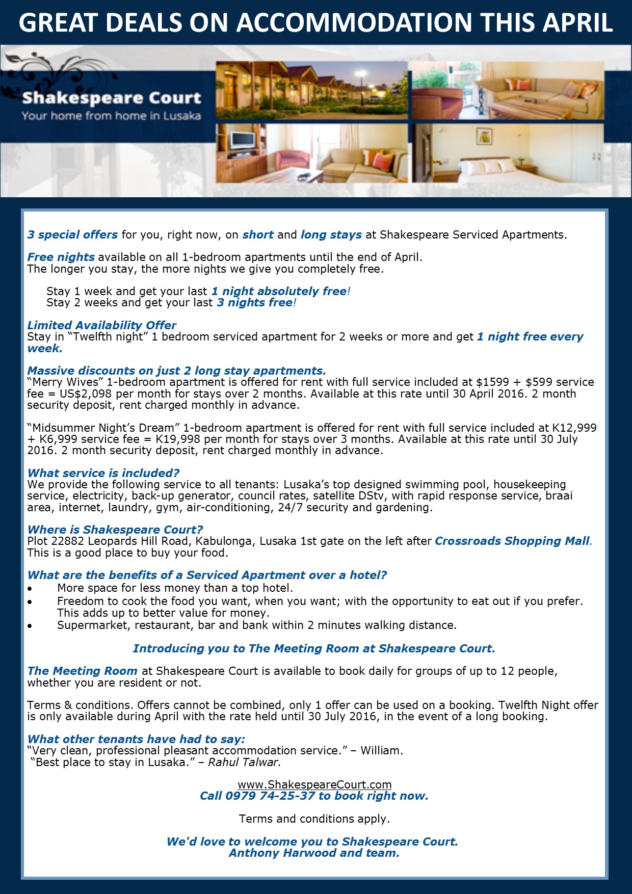 ccdb413ae78c 12.04.2016 - GREAT DEALS ON ACCOMMODATION THIS APRIL » Ad-dicts Ads ...