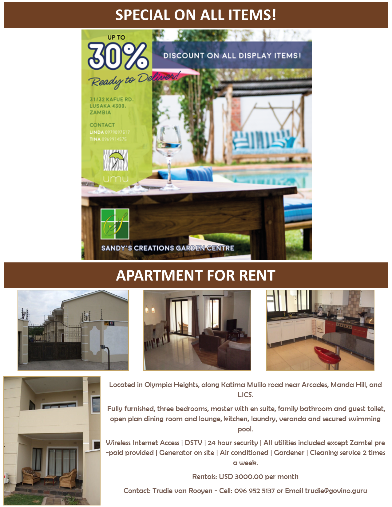 27 01 2017   apartment for rent