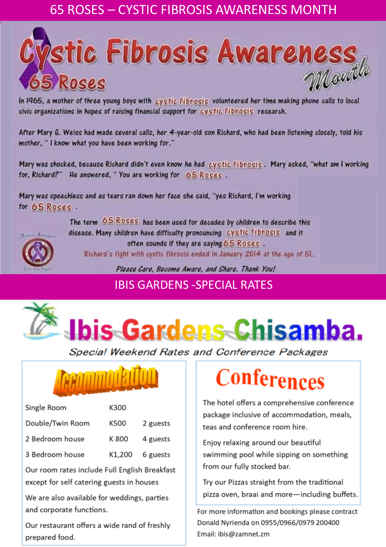 22 05 2019 - 65 ROSES / IBIS GARDEN'S SPECIAL RATES » Ad-dicts Ads