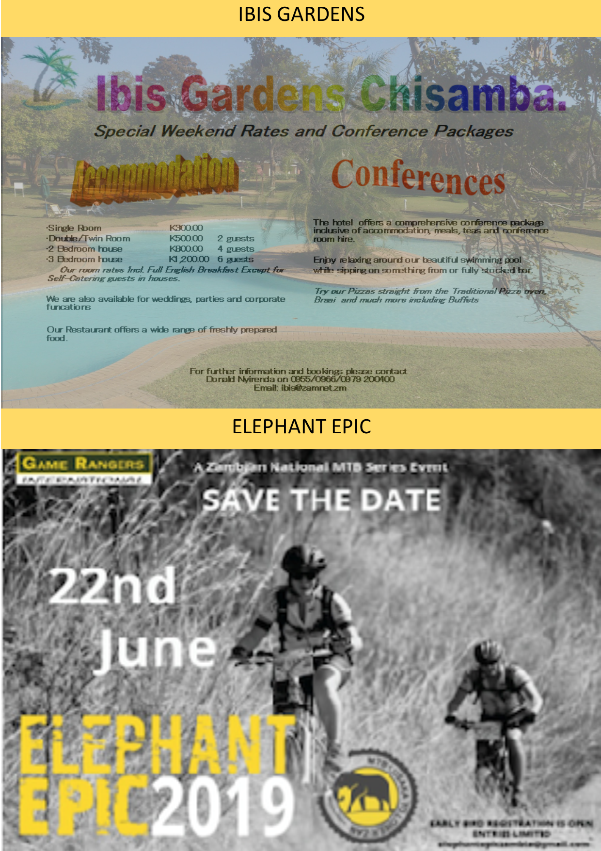06 05 2019 - IBIS GARDEN'S CHISAMBA / ELEPHANT EPIC » Ad-dicts Ads