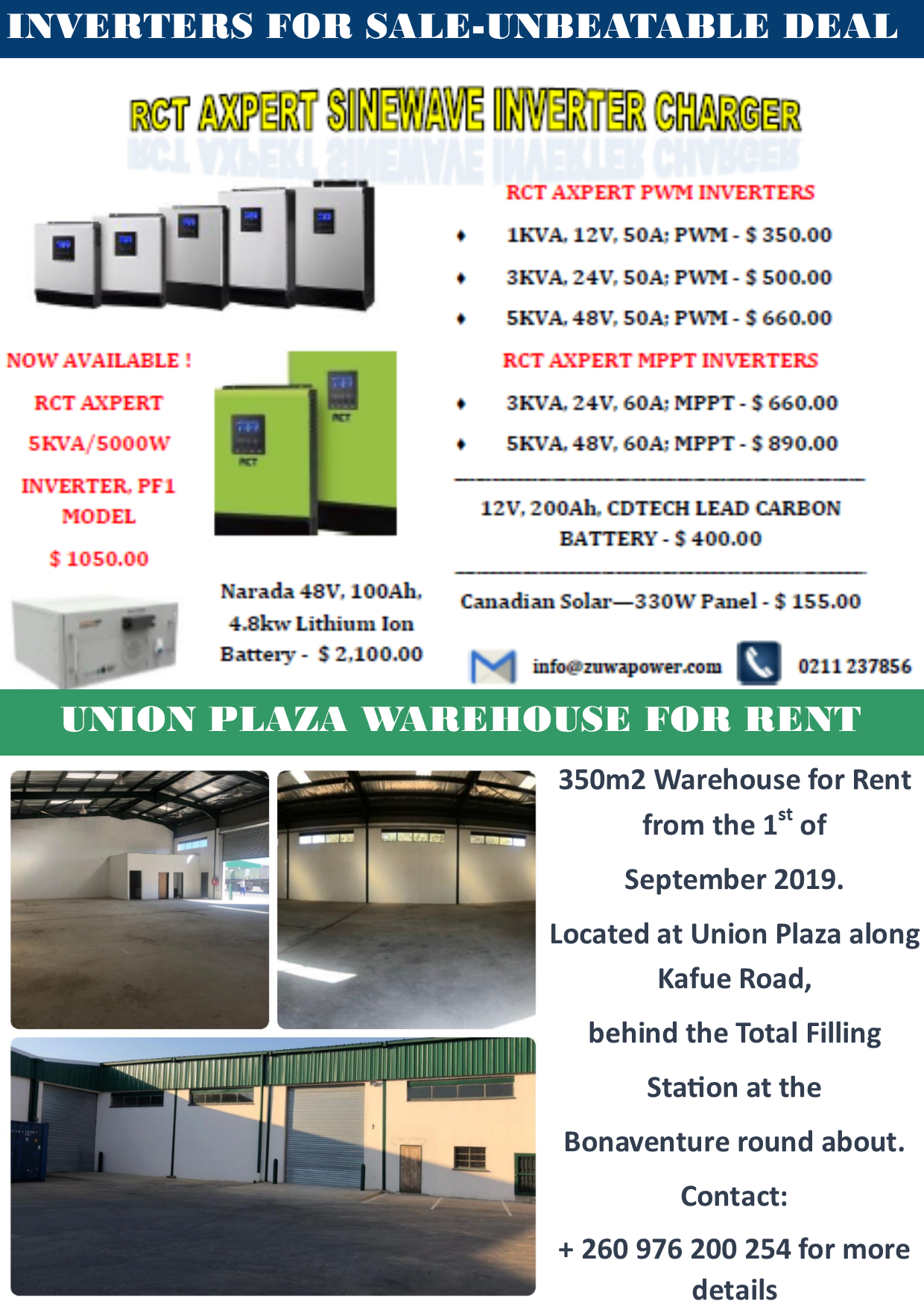 Inverters For Sale >> 18 11 19 Inverters For Sale Union Plaza Warehouse For